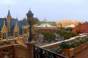 View from the Tokyo Disneyland Castle by RubyReminiscence