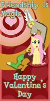 Discord and Fluttershy Valentine's Card by Kurenai-Hio