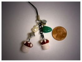 Shrooms Cellphone Charm by mayel411