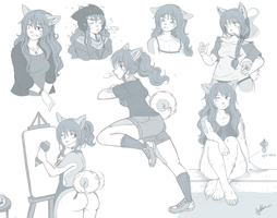 sketchpage.chiyo by thestoneycoyote