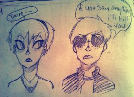 Dave Strider and Rose Lalonde by Yahsa