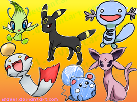 I drew pokemons yay by isa961