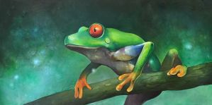 Tree Frog by jordanwalkerartist