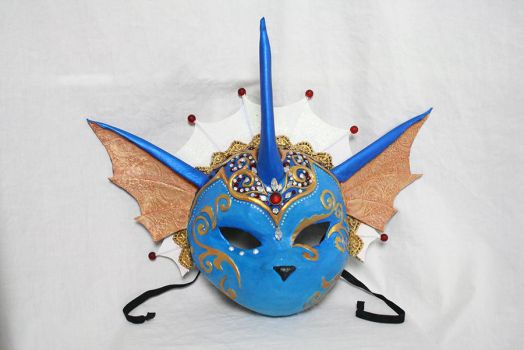 Vaporeon Carnival Mask for Desert Bus 7 by Cultureshock007