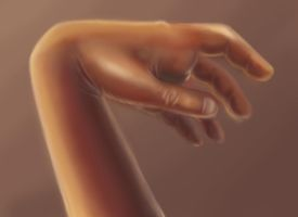 Speedpainting of a hand by jessijoke