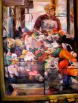 Self Portrait w. Claw Machine by CadmiumCrab