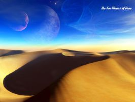 The Two Moons of Dune by versiani