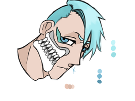 Side Shave Grimmjow (I love sideshaves fight me) by xxscorpiosDoubtxx