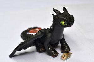 Toothless sculpture02 by crystalrain2702