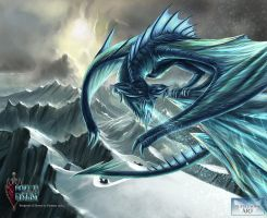 Ancient Ice Dragon - Digital Wings Art Comp by Bertross