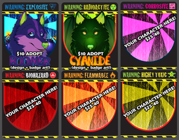 End Of The World Badge Samples+Adopts by Crazdude