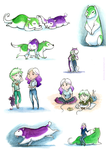 A page full of purple and green by Domisea