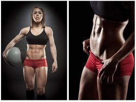 Fitness shoot with Becca Holcomb DIPTYCH by moshunman