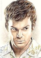 Michael C. Hall mini-portrait by whu-wei
