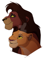Kovu and Kiara by kohu-arts