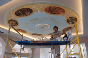 Painting on the ceiling for a private house by tiN-naR