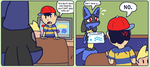 Don't be mean Ness by Rupeeclock