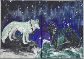 TRADITIONAL: Earth and Sea by wolf-fire