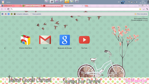 Theme Google Chrome Spring For Circle by MinnieGirl3