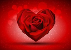 Red-Rose-in-The-Shape-of-Heart by vectorbackgrounds