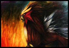 Entei by Missleepify