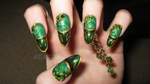 loki inspired nails by xtheungodx