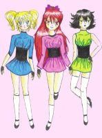 Powerpuff girls by Karrinah