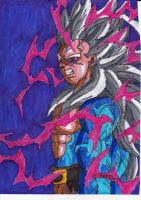 Pissed off SSJ5 Gohan by ChahlesXavier