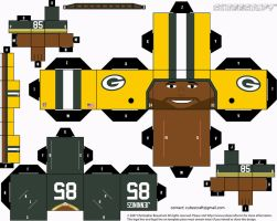 Greg Jennings Packers Cubee by etchings13