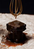 Salted Caramel Brownie by munchinees