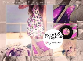 PSD 035 Purple Life by OmgKltzEdition