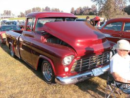 55' Red Chev Pickup A by Eagle07