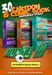 Cartoon and Comic Book Photoshop Styles BUNDLE 3 by survivorcz
