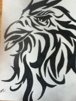 Tribal tattoo design eagle by thisiscray