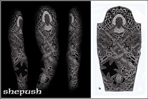 Celtic sleeve by shepush