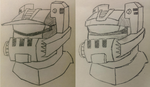 TFA Roadbuster head sketches by misternewuzer