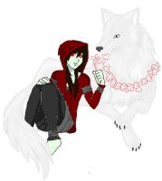 Flowers for the wolf by MonsterNiccals