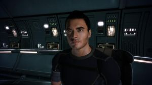 Kaidan in the Comm Room - Mass Effect by loraine95