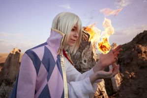 Howl's Moving Castle_Personal fire demon by SoranoSuzu