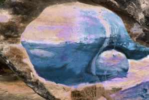 Evelyn, A Modified Sandstone Cave Stock Whale by aegiandyad