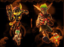 Ratchet and Jak wallpaper by artlover6000