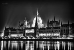 Budapest Parliament at Night 2 by Creative--Dragon
