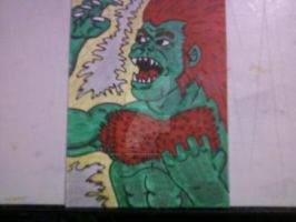 STREET FIGHTER 2 BLANKA by shawncomicart