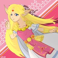 REQUEST - Princess Zelda by STRAYsketches