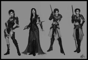 Female Character Designs by Peter-Ortiz