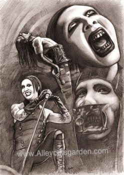 Marilyn Manson by Alleycatsgarden