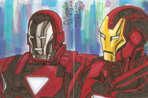 Iron Man sketch card 1 by aisu-kaminari