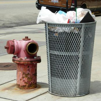 106 - trash and hydrant by WolfC-Stock