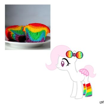 Rainbow Cupcake CLOSED by QueenBatgirl