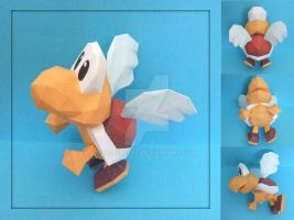 Koopa Paratroopa Papercraft by PaperBuff